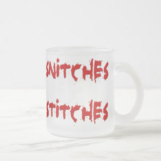 SnitchesStiches2 Frosted Glass Coffee Mug