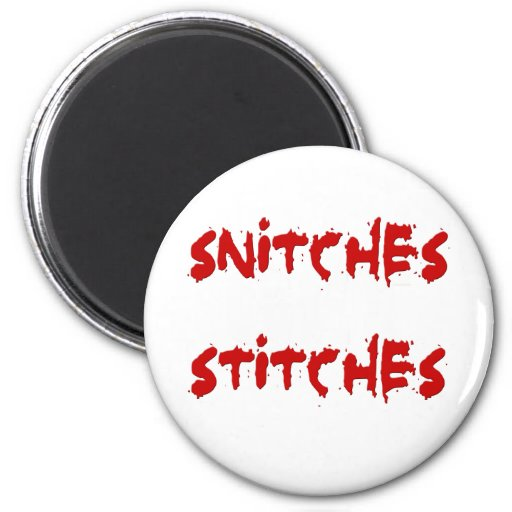 SnitchesStiches2 Imán Redondo 5 Cm