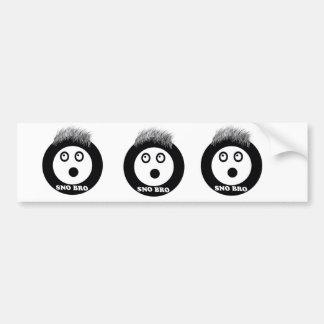sno bro bumper sticker
