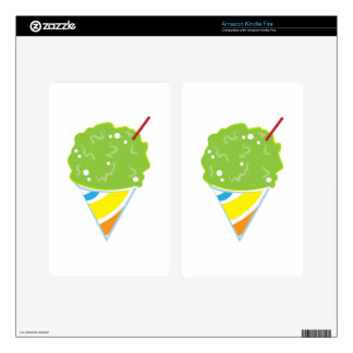 Sno Cone Kindle Fire Decals