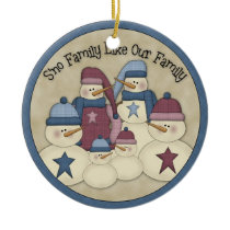 Sno Family Like Our Family :: Holiday Ornament