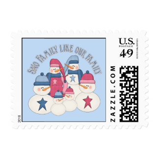Sno Family Like Our Family Postage Stamp