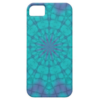 Sno Flakes on Teal and Purple Background iPhone SE/5/5s Case