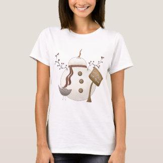 Sno Place Like Home Winter Snowman Design T-Shirt