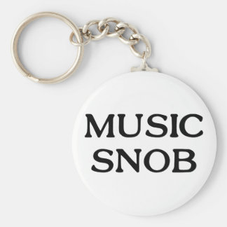 Snob de la música llaveros personalizados