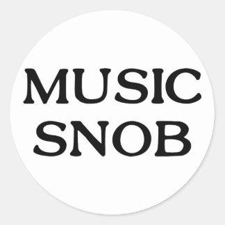 Snob de la música etiquetas redondas
