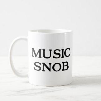 Snob de la música taza de café