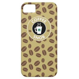 Snob del café, humor del café iPhone 5 funda