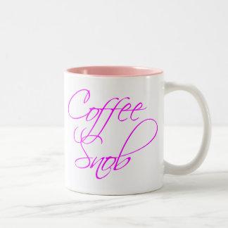 Snob del café taza de dos tonos