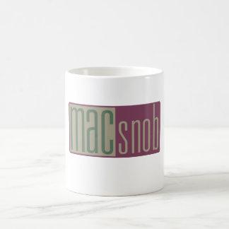 snob del mac taza de café