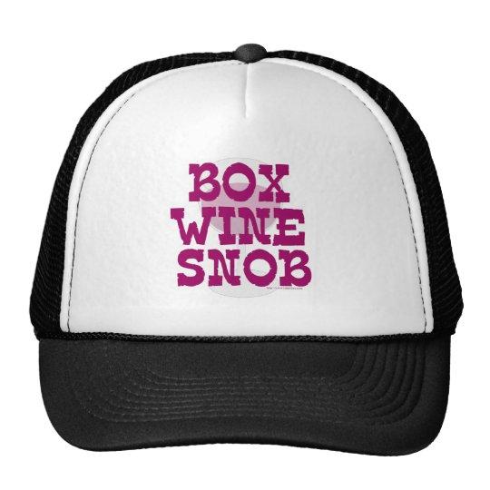 Snob del vino de la caja gorras de camionero