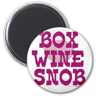 Snob del vino de la caja imanes para frigoríficos