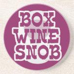 Snob del vino de la caja posavaso para bebida
