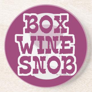 Snob del vino de la caja posavasos personalizados