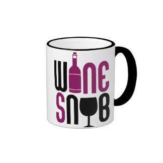 Snob del vino taza de dos colores