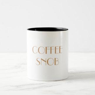 SNOB Mub del CAFÉ Taza De Dos Tonos