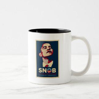 SNOBAMA Two-Tone COFFEE MUG