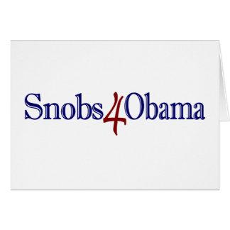 Snobs 4 Obama Card