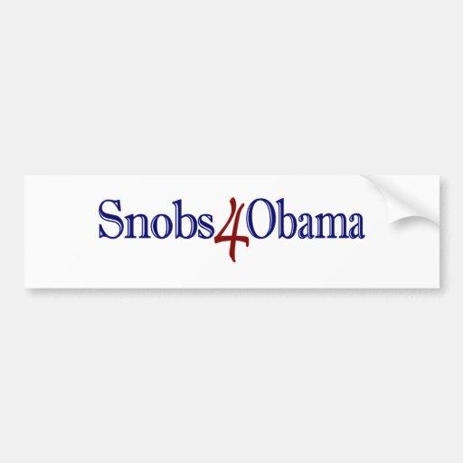 Snobs 4 Obama Pegatina Para Auto