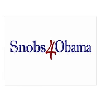 Snobs 4 Obama Postcards