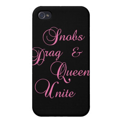 Snobs Cases For iPhone 4
