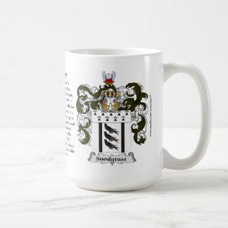 Snodgrass, el origen, el significado y el escudo taza
