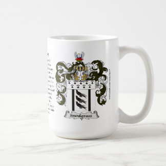 Snodgrass, the Origin, the Meaning and the Crest Coffee Mug