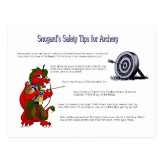 Snogard's Safety Tips for Archery Postcards