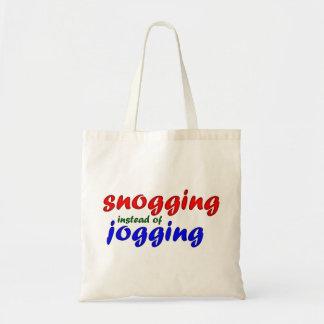 snogging instead jogging canvas bag