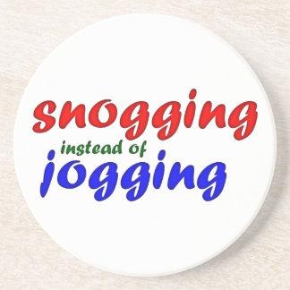 snogging instead jogging drink coasters