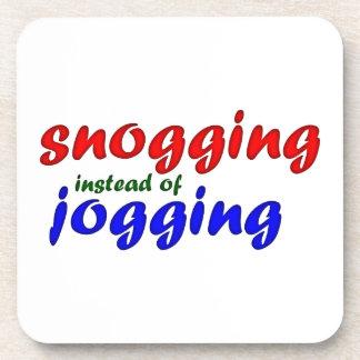 snogging instead jogging coaster