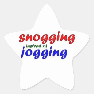 snogging instead jogging star sticker