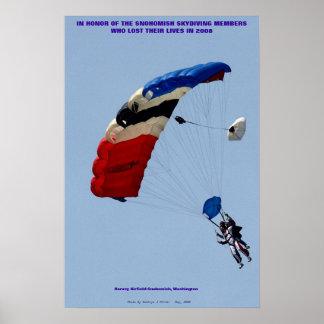 Snohomish Sky Diving Members Poster