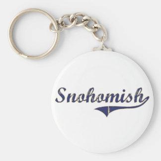 Snohomish Washington Classic Design Basic Round Button Keychain