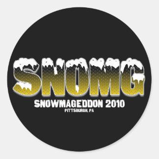 SNOMG CLASSIC ROUND STICKER