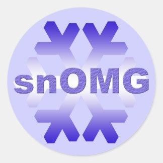 snOMG Snowstorm Stickers