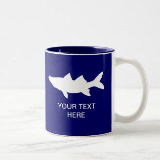 Snook Fishing Silhouette Two-Tone Coffee Mug