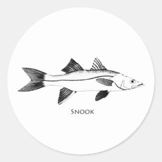 Snook Illustration Classic Round Sticker