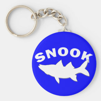 Snook Silhouette - Snook Fishing Basic Round Button Keychain