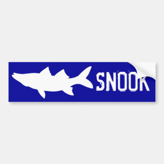 Snook Silhouette - Snook Fishing Bumper Sticker