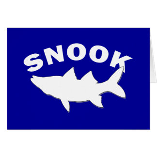 Snook Silhouette - Snook Fishing Card
