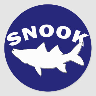 Snook Silhouette - Snook Fishing Classic Round Sticker