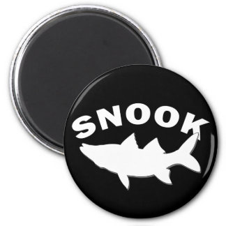 Snook Silhouette - Snook Fishing Refrigerator Magnets