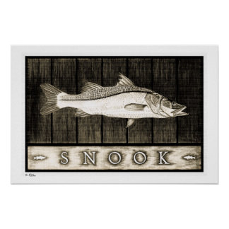 Snook Vintage B&W Posters, Prints and Frames Poster