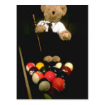 Snooker bear postcards