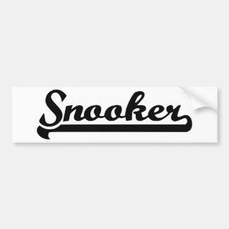 Snooker Bumper Stickers