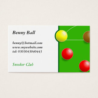 Snooker Business Card