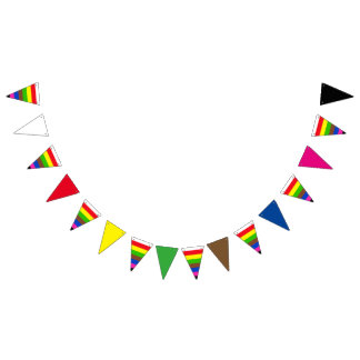 SNOOKER COLORS STRIPES + your ideas Bunting Flags