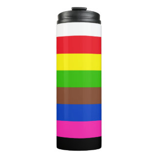 SNOOKER COLORS STRIPES + your ideas Thermal Tumbler