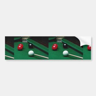 Snooker equipment car bumper sticker